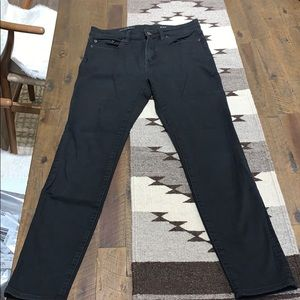 J.Crew High Rise Skinny Jeans, Black, Sz 28